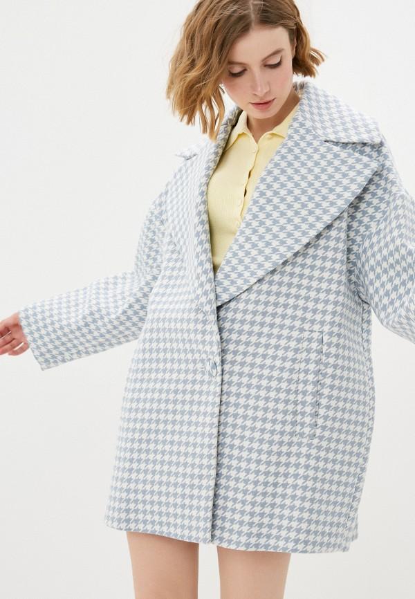 женское пальто imperial, голубое