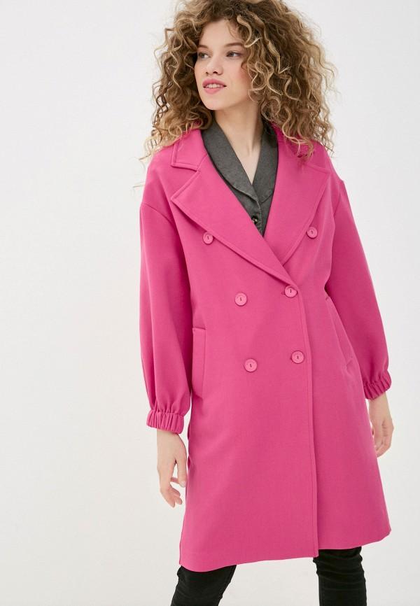 женское пальто imperial, розовое