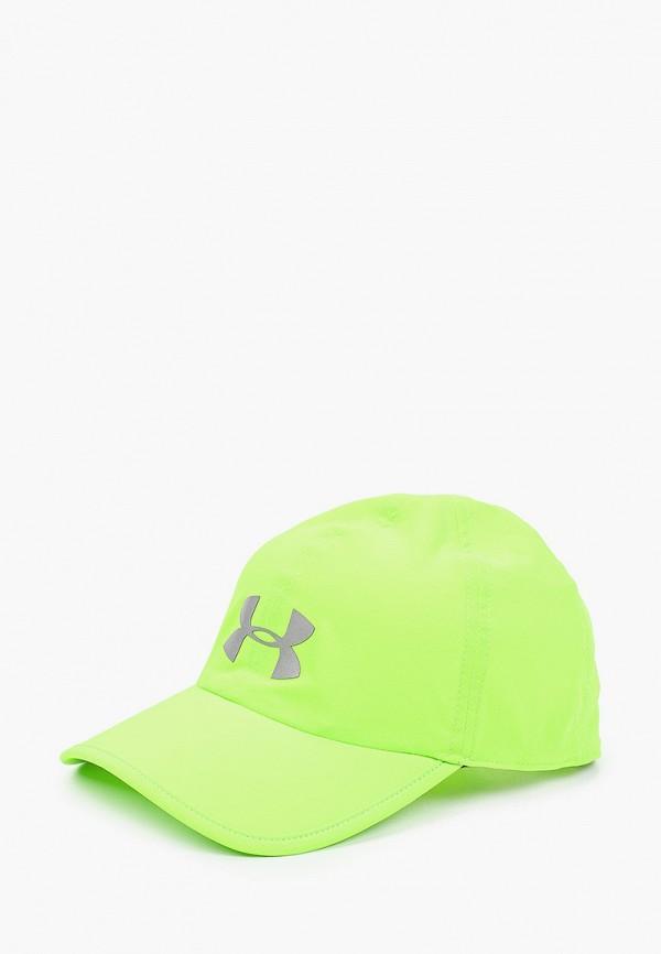 женская бейсболка under armour, зеленая