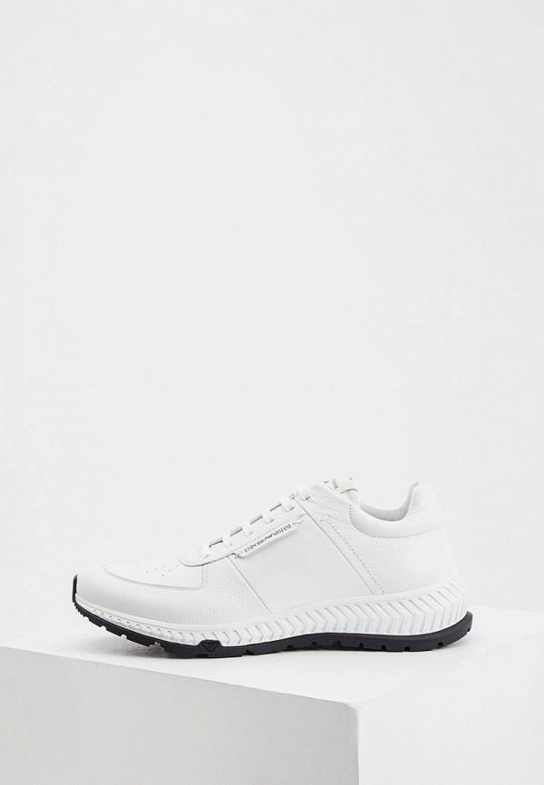 мужские низкие кроссовки emporio armani, белые