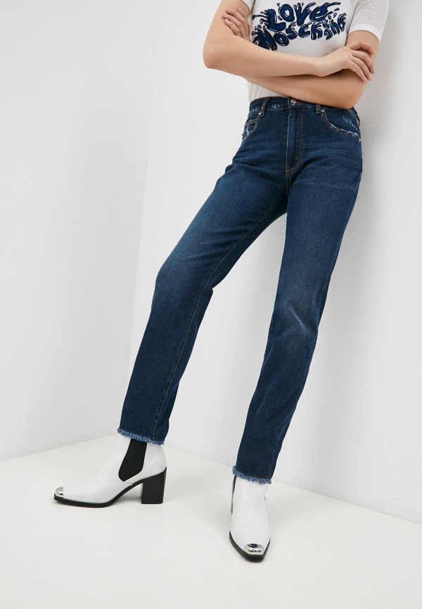 женские джинсы love moschino, синие