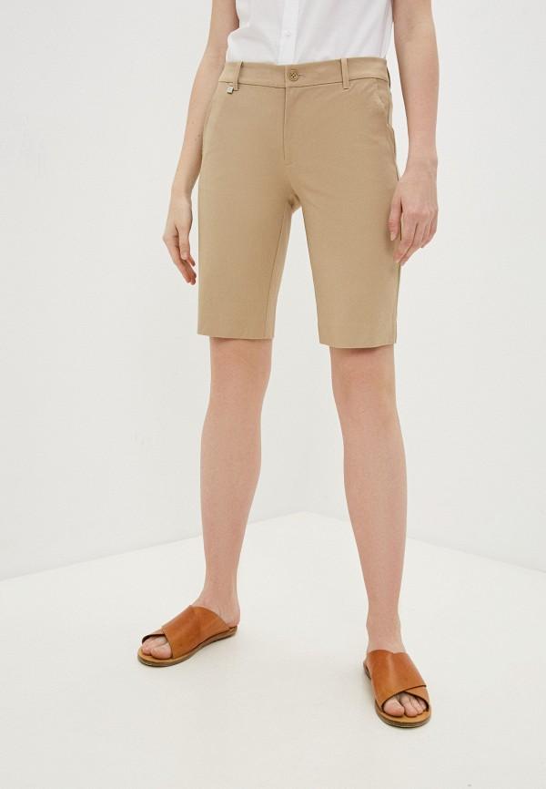 женские повседневные шорты lauren ralph lauren, бежевые