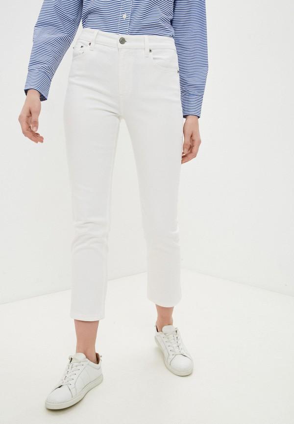 женские прямые джинсы lauren ralph lauren, белые