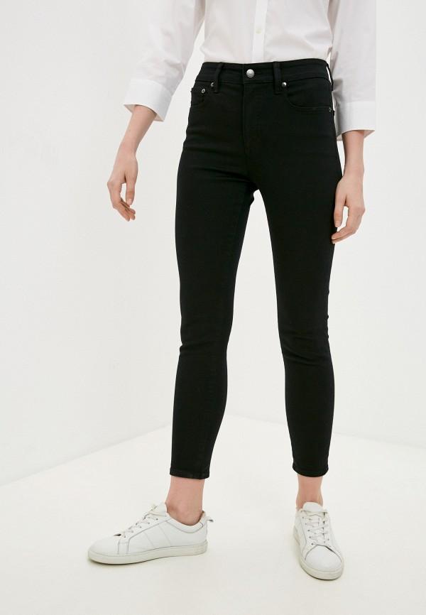 женские джинсы скинни lauren ralph lauren, черные