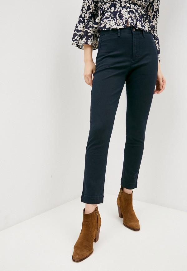 женские классические брюки polo ralph lauren, синие