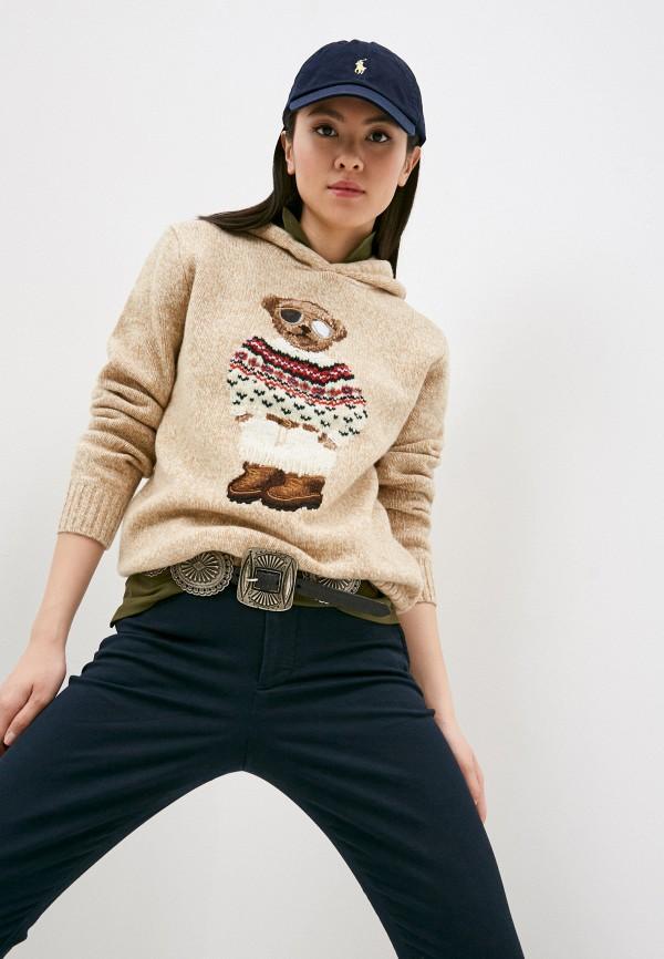 женский свитер polo ralph lauren, бежевый