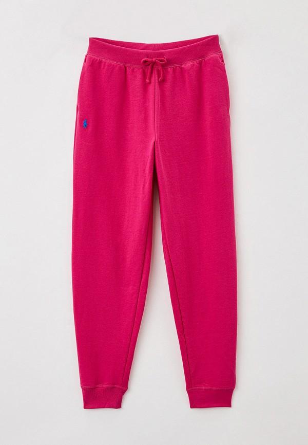 спортивные брюки polo ralph lauren для девочки, розовые