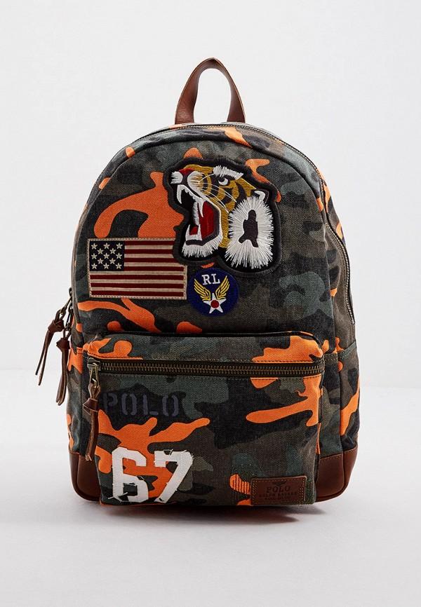 мужской рюкзак polo ralph lauren, разноцветный