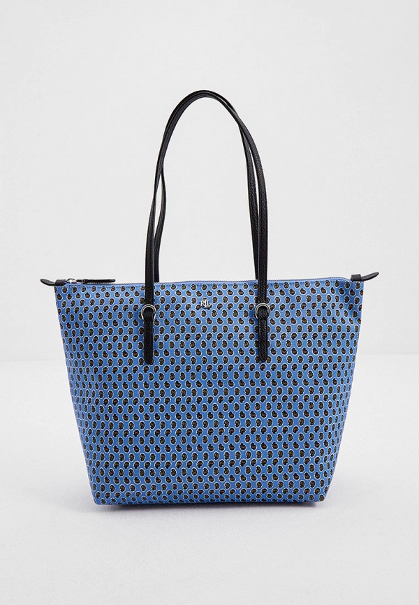 женская сумка-шоперы lauren ralph lauren, голубая
