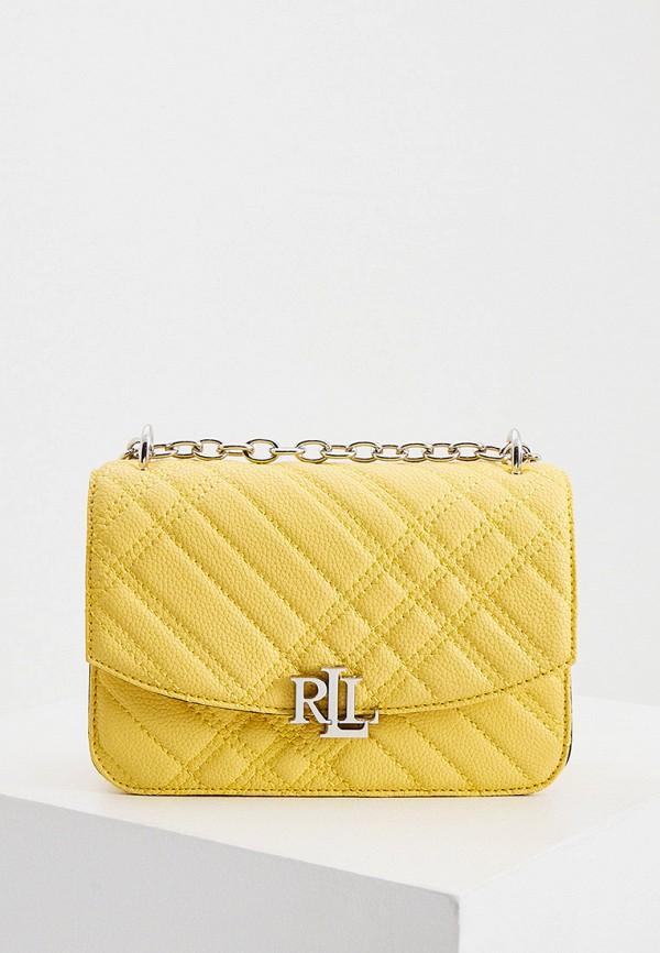 женская сумка через плечо lauren ralph lauren, желтая