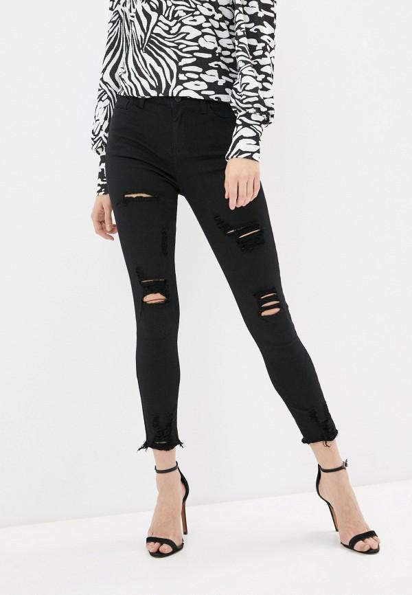 женские джинсы скинни g&g, черные