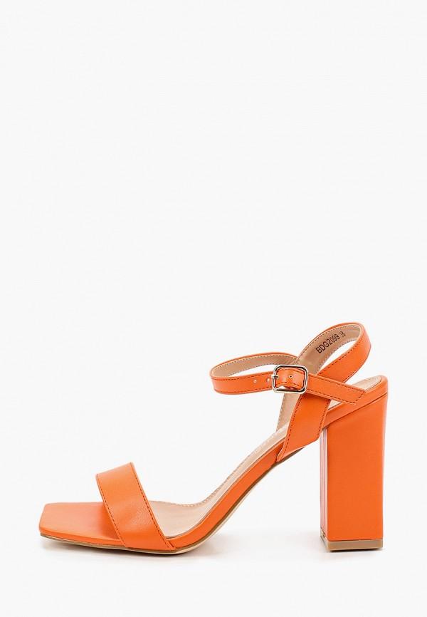 женские босоножки la bottine souriante, оранжевые