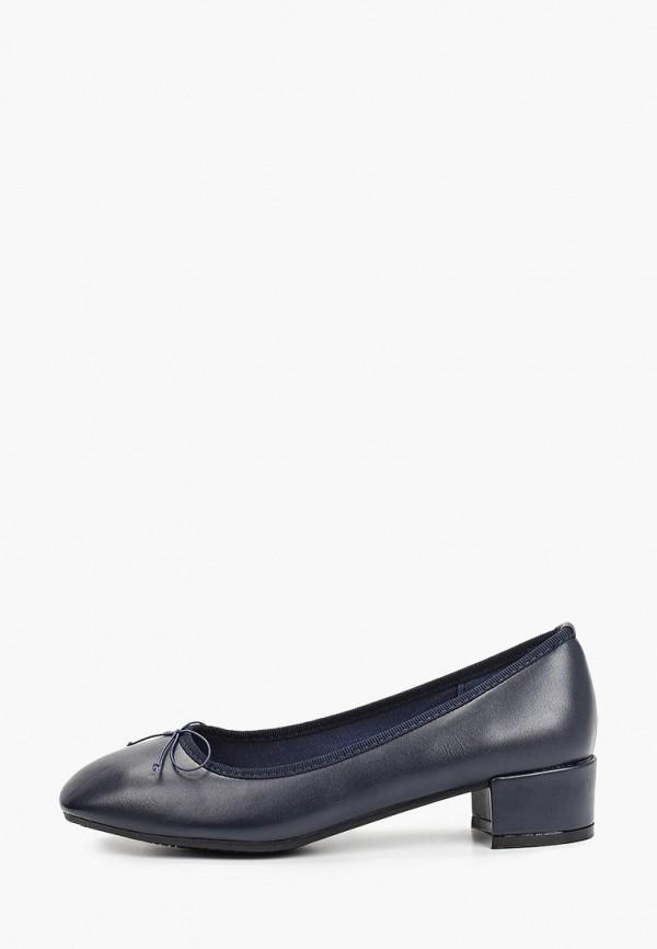 женские туфли с закрытым носом la bottine souriante, синие
