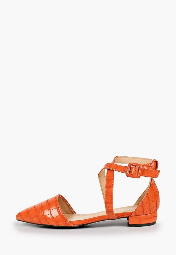 женские туфли la bottine souriante, оранжевые