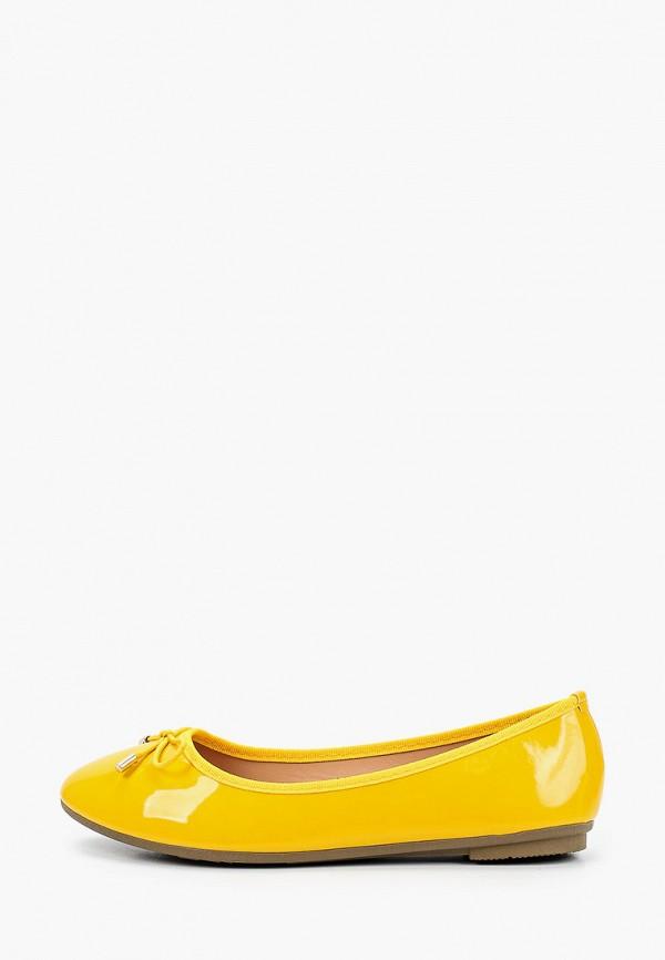 женские балетки la bottine souriante, желтые