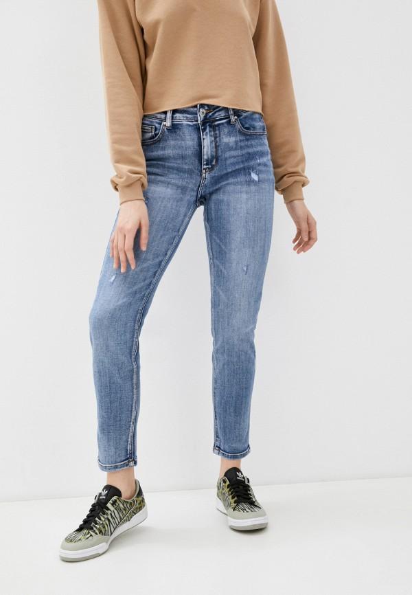 женские джинсы скинни miss bon bon, голубые