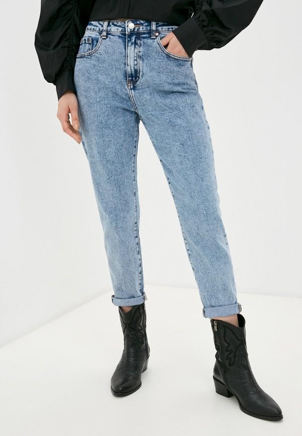 женские джинсы-мом miss bon bon, голубые