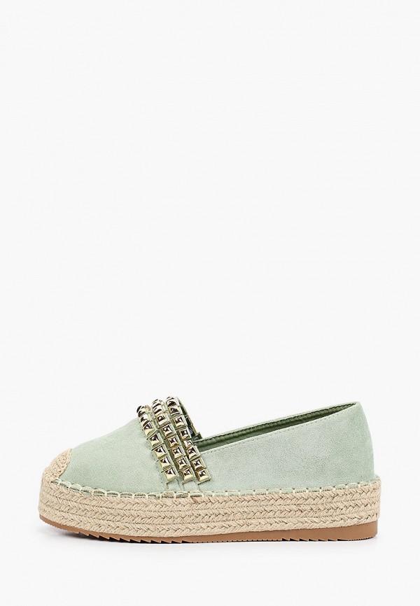 женские эспадрильи ideal shoes, бирюзовые