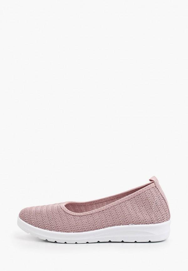 женские балетки ideal shoes, розовые