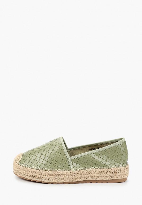 женские эспадрильи sweet shoes, зеленые