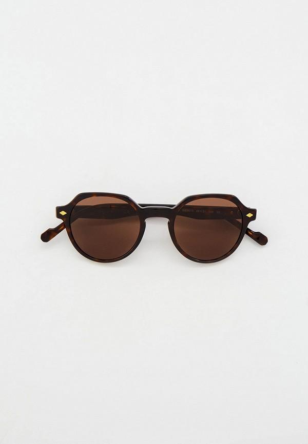 женские круглые солнцезащитные очки vogue® eyewear, коричневые