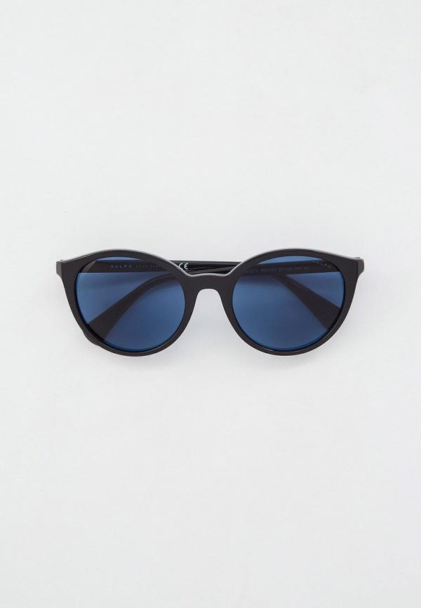 женские круглые солнцезащитные очки ralph ralph lauren, черные