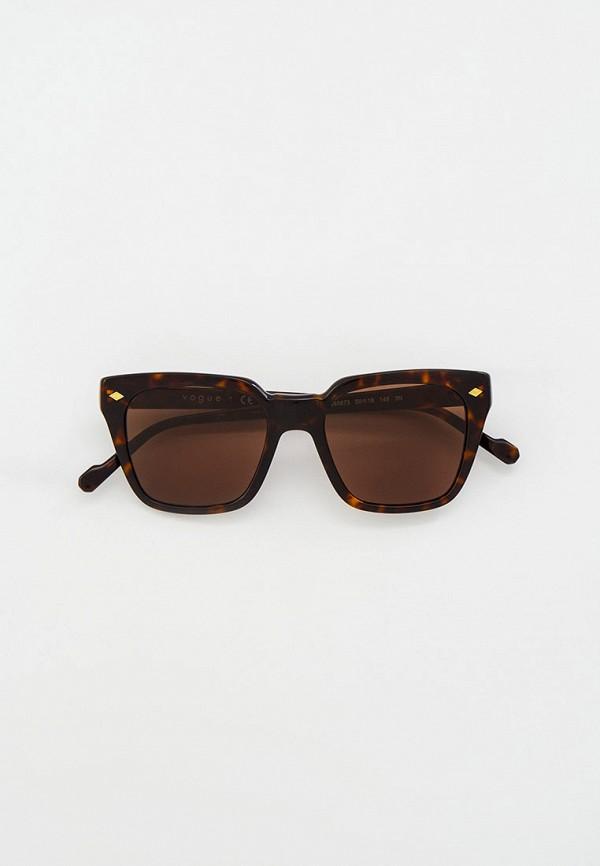 женские квадратные солнцезащитные очки vogue® eyewear, коричневые