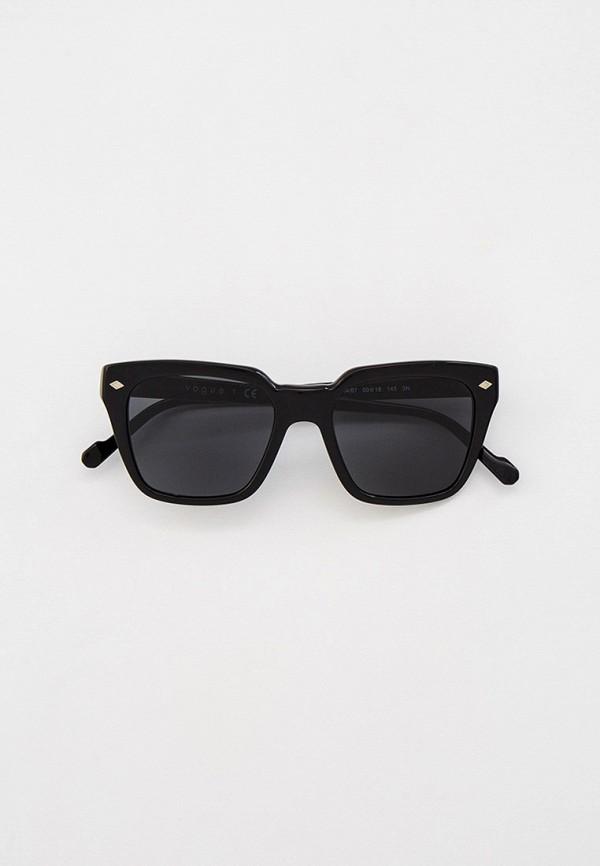 женские квадратные солнцезащитные очки vogue® eyewear, черные