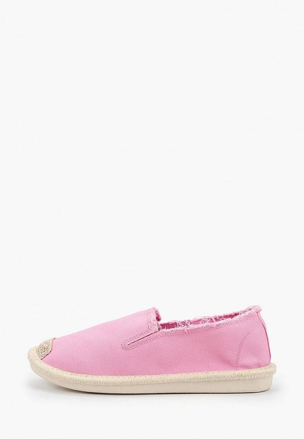 женские низкие слипоны super mode, розовые