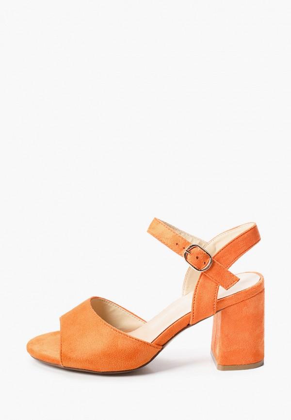 женские босоножки super mode, оранжевые