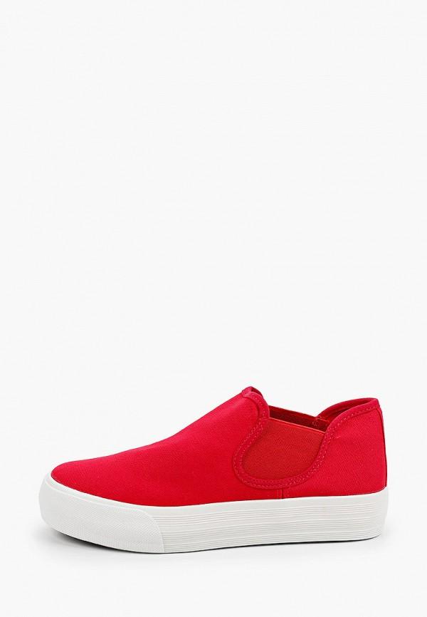 женские низкие слипоны exquily, красные