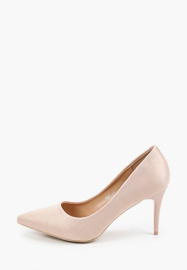 женские туфли-лодочки exquily, бежевые