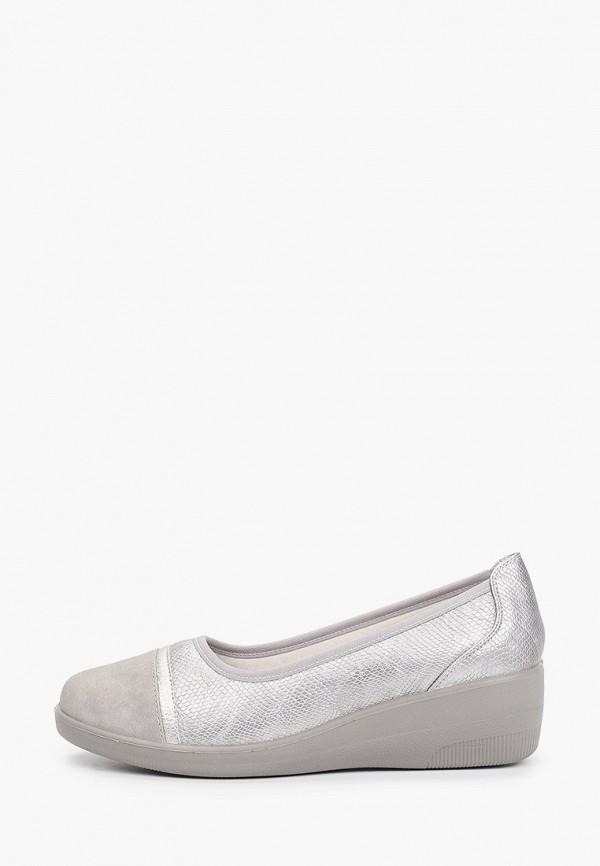 женские туфли с закрытым носом exquily, серебряные