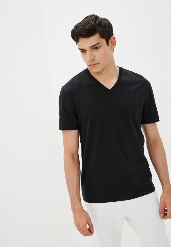 мужская футболка с коротким рукавом banana republic, черная