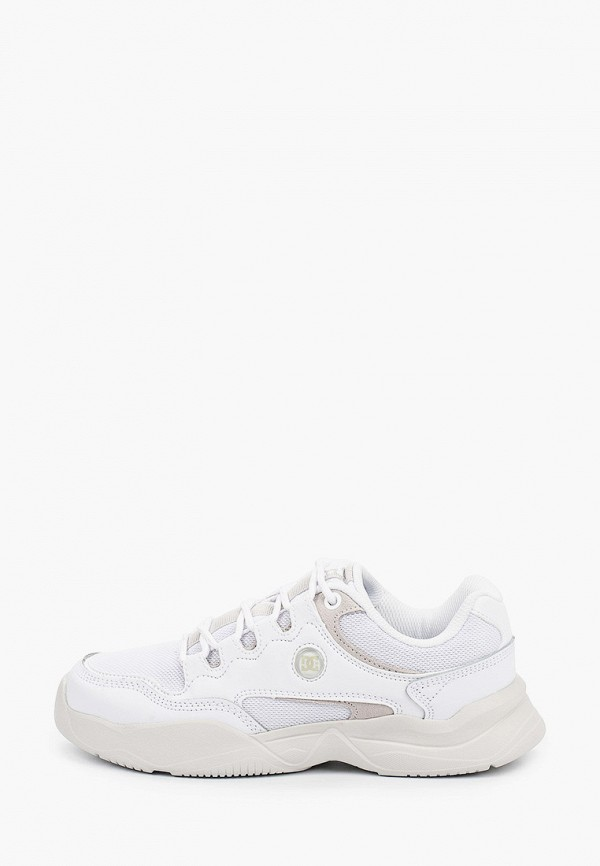 женские низкие кроссовки dc shoes, белые
