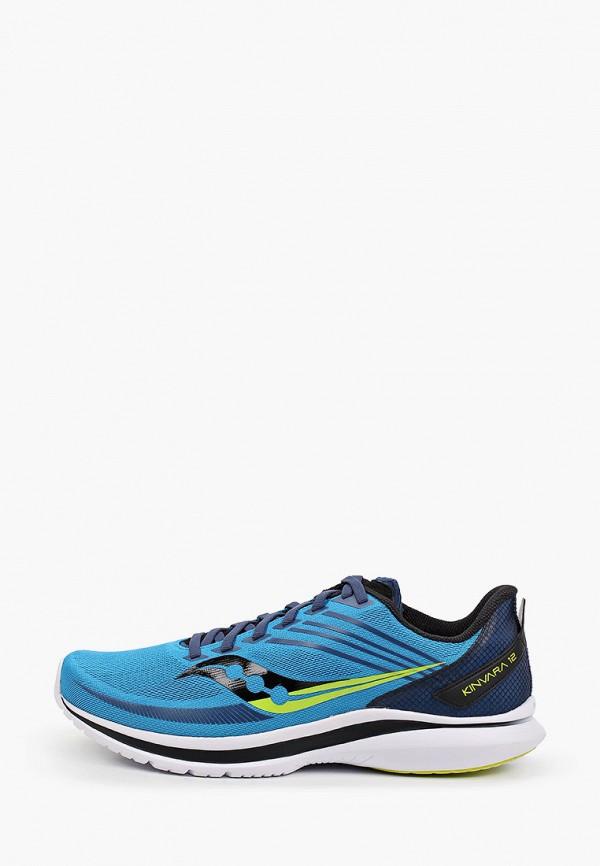мужские низкие кроссовки saucony, голубые