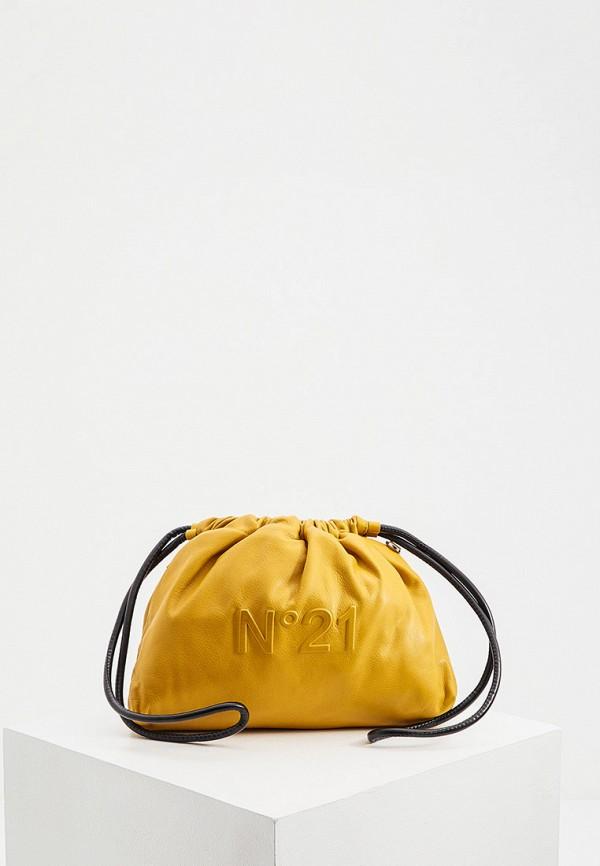 женская сумка через плечо n21, желтая