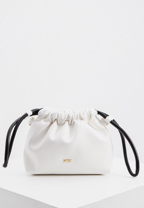 женская сумка-ведро n21, белая
