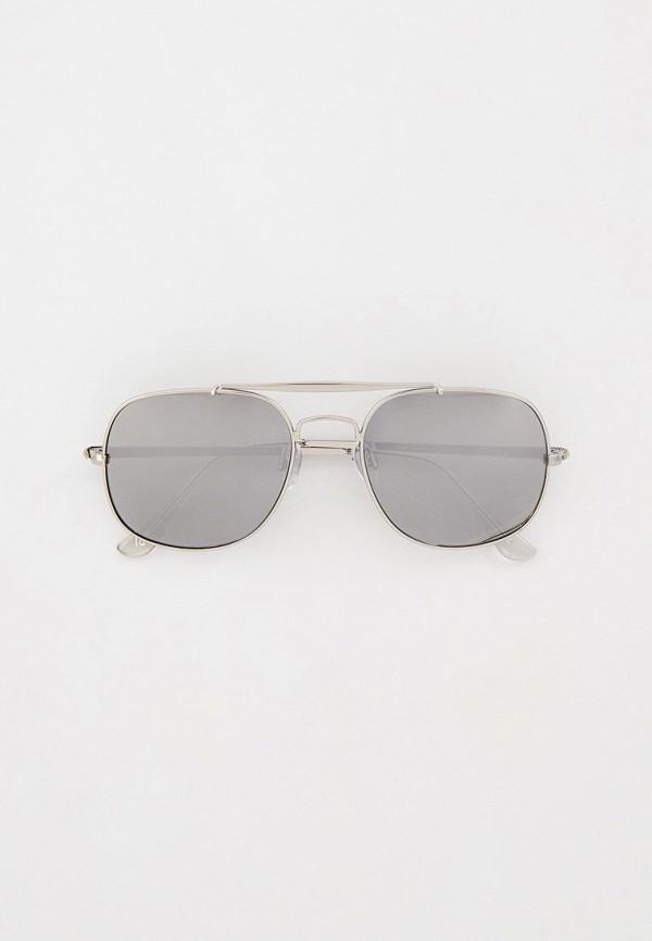 мужские солнцезащитные очки river island, серебряные