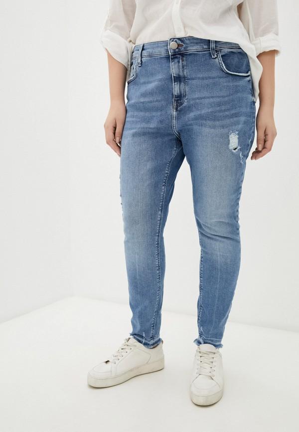 женские джинсы скинни river island, голубые