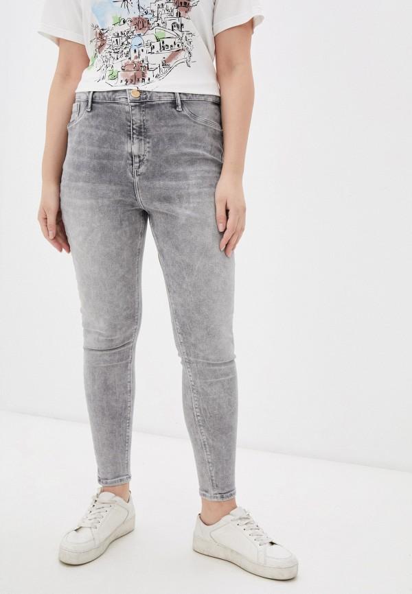 женские джинсы скинни river island, серые