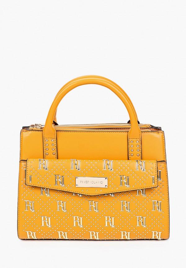 женская сумка с ручками river island, оранжевая
