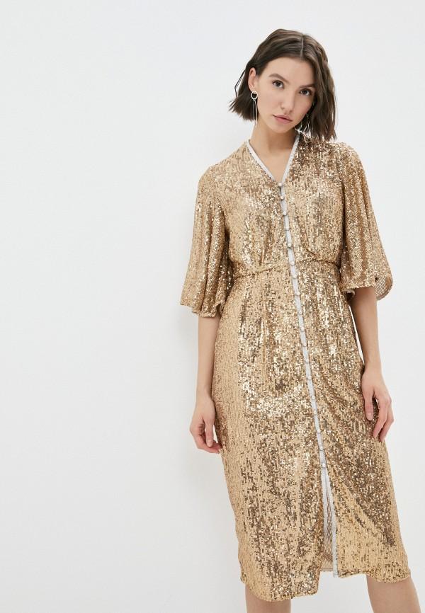 женское вечерние платье river island, золотое