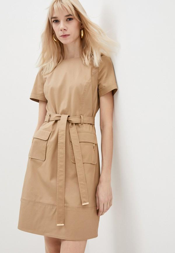 женское повседневные платье liu jo, бежевое