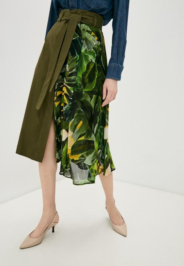 женская юбка-трапеции liu jo, хаки