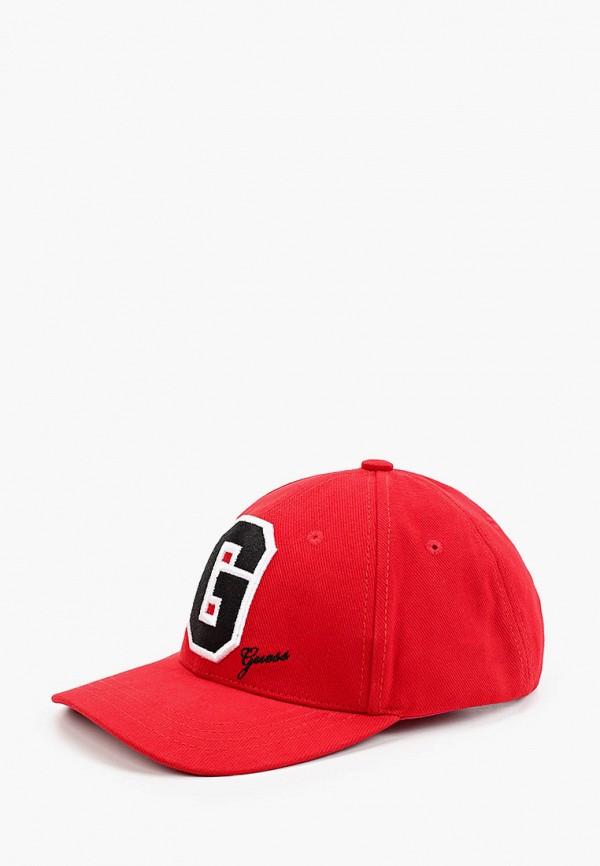 женская бейсболка guess, красная