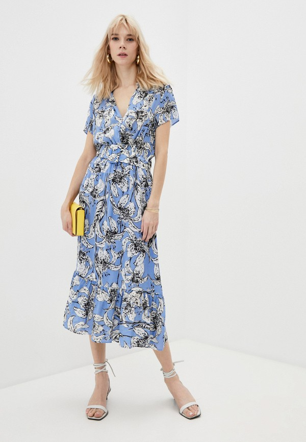 женское платье с запахом liu jo, голубое