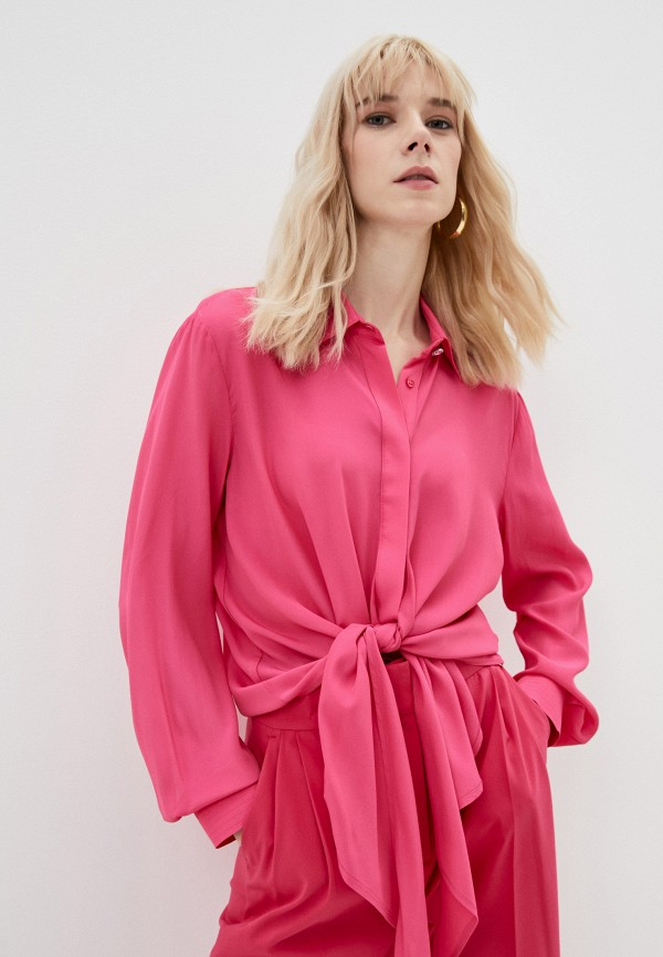 женская блузка с длинным рукавом liu jo, розовая