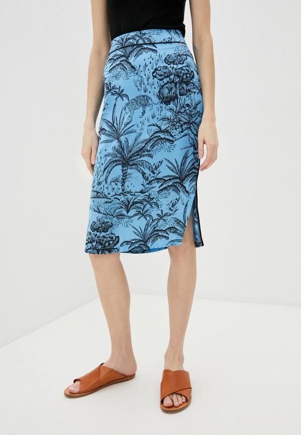 женская прямые юбка liu jo, голубая