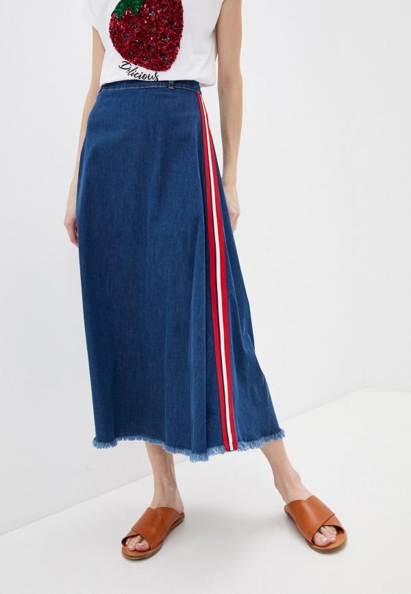 женская юбка-трапеции liu jo, синяя